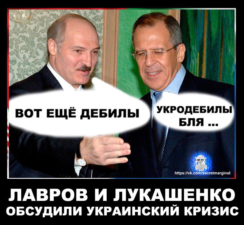 Демотиватор Лавров Лукашенко