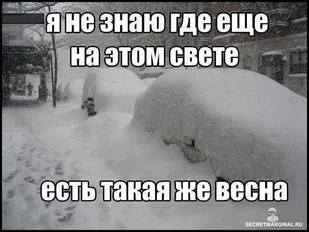 В Питере опять идёт снег