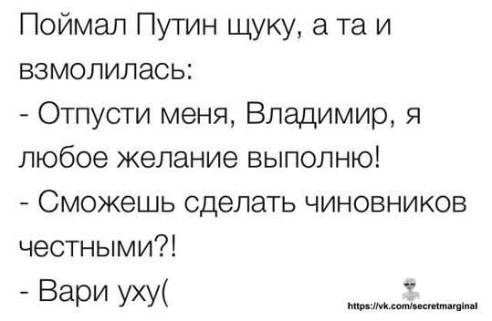 Путин и щука анекдот
