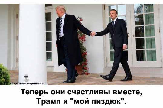 Трамп и Макрон и Панин