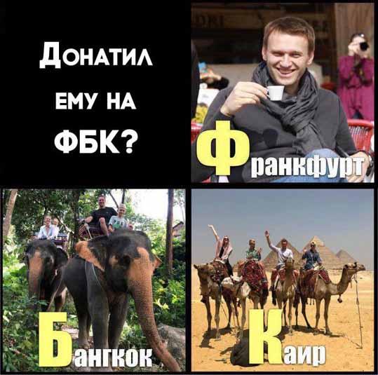 Навальный и донаты