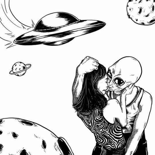 Поцелуй с гуманоидом