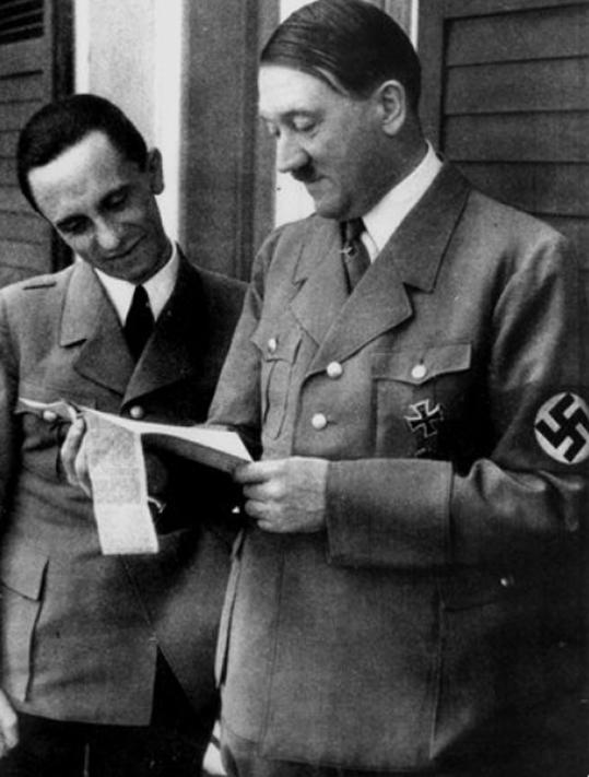 Гитлер и Гебельс