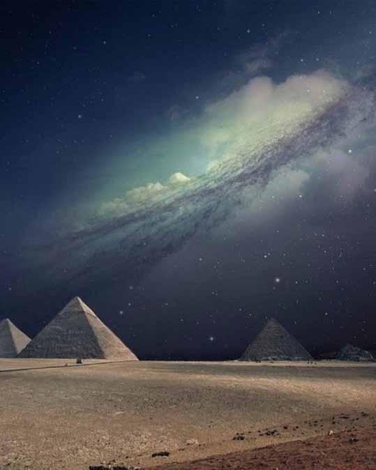 Пирамида и небо