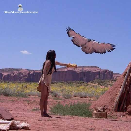 индеец и орел