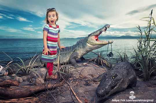 девочка и крокодилы