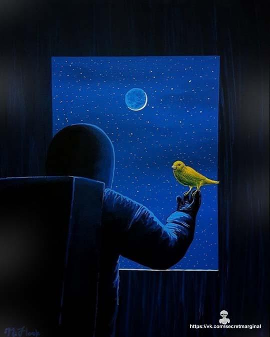 космонавт в окне