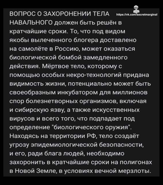 тело Навального